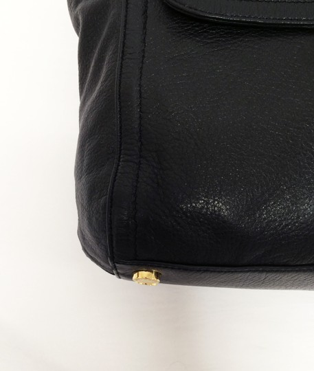 MICHAEL Michael Kors Top Leather Satchel in Black Image 8