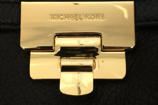 MICHAEL Michael Kors Top Leather Satchel in Black Image 9