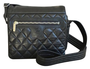 Chanel Caviar 14 Series Black Messenger Bag