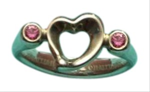 Tiffany & Co. Tiffany & Co Sterling Heart & Pink Sapphire Ring Elsa Peretti