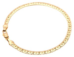 Other 18K SOLID YELLOW GOLD FILLED BRACELET CHAIN 7.8G