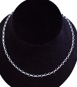 The Queens Closet .925 Sterling Silver Hearts Chain Necklace 20