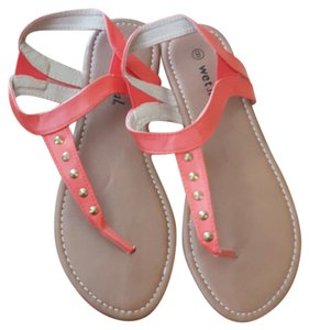 Wet Seal Coral Sandals