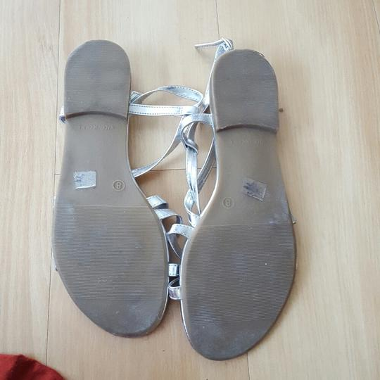 Old Navy Silver Sandals Image 1
