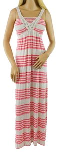 Coral, Gray Maxi Dress by Neiman Marcus