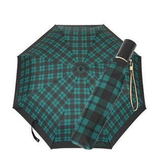 Coach Coach F56051 Automatic Compact Signature Plaid Print Umbrella