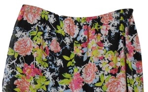 Notations 1x 1xl Plus Floral Maxi Skirt Multi