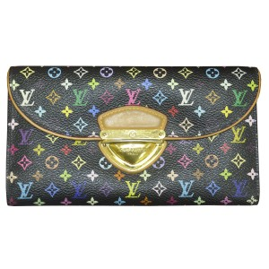 Louis Vuitton Louis Vuitton Black Multicolor Monogram Eugenie Long Wallet