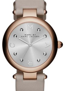 Marc by Marc Jacobs Marc by Marc Jacobs rose gold dotty gray leather watch
