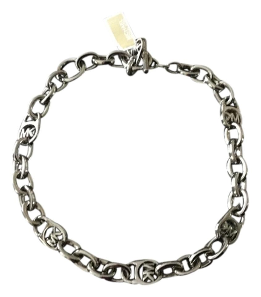 Michael kors silver necklace 40 off michael kors for Michael b s jewelry