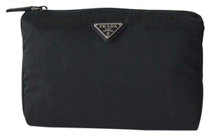Prada New Medium Vela Cosmetic Pouch in Black
