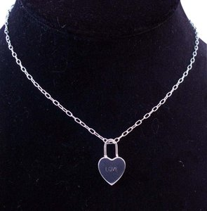 The Queens Closet . LOVE Pendant 925 Sterling Silver 16