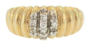 Other Caterpillar Style Diamond Ring- 14k Yellow Gold