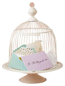 Birdcage Envelope Holder - White