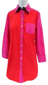 Soft Surroundings Top Red/Pink