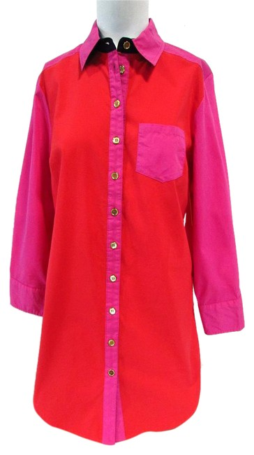 Preload https://img-static.tradesy.com/item/20508189/soft-surroundings-redpink-long-sleeve-color-block-button-down-shirt-blouse-size-0-xs-0-1-650-650.jpg