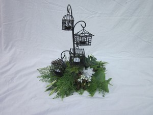 Self Esteem Black/Green Candleholder/Floral Decor Reception Decoration