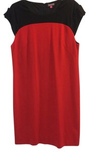 Vince Camuto short dress Balck and red on Tradesy