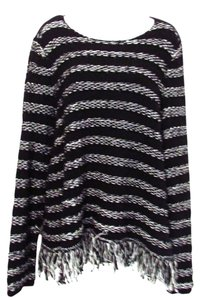 Chico's Cotton Blend Striped Sweater