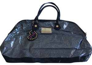 Betsey Johnson glitter and black Travel Bag