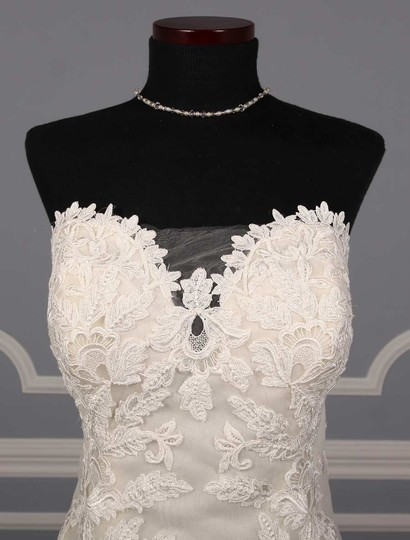 Ines Di Santo Light Ivory Guipure Lace Netting Silk Elisavet Formal Wedding Dress Size 2 (XS) Image 2