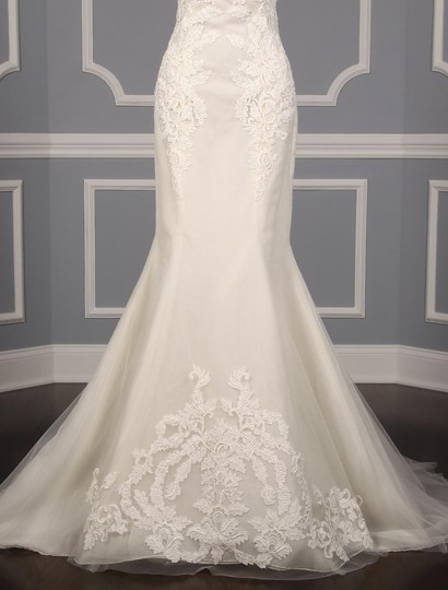 Ines Di Santo Light Ivory Guipure Lace Netting Silk Elisavet Formal Wedding Dress Size 2 (XS) Image 3