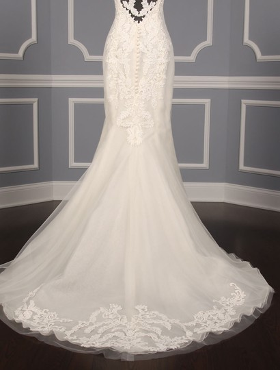 Ines Di Santo Light Ivory Guipure Lace Netting Silk Elisavet Formal Wedding Dress Size 2 (XS) Image 9