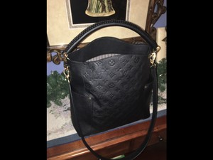 Louis Vuitton Empreinte Leather Removable Straps Zipped Pockets Classic Hobo Bag