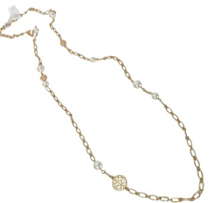 Tory Burch Pearl with gold necklaces