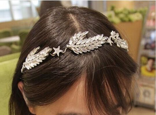 Crystal/Silver Marquise Ice Band Hair Accessory
