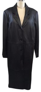 Centigrade Leather Button Down Zip Out Liner Full Length Coat