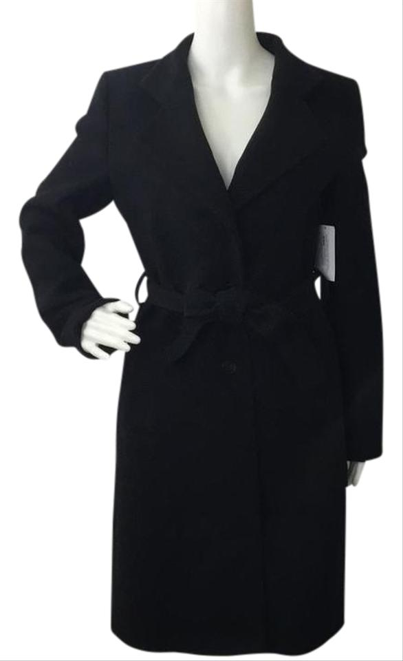hugo boss 4 wool belted trench trench coat 75 off retail. Black Bedroom Furniture Sets. Home Design Ideas
