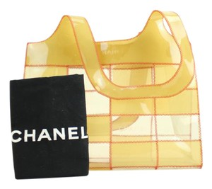 Chanel Vinyl See Through Translucent Tote in Multicolor