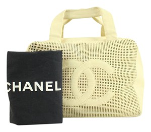 Chanel Doctors Boston Speedy Up In The Air Satchel in baige