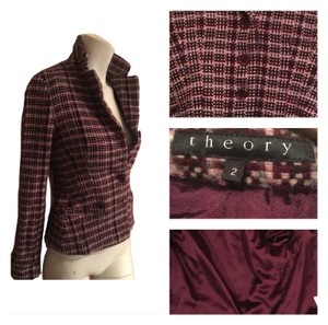 Theory Raisin and pink tweed Blazer