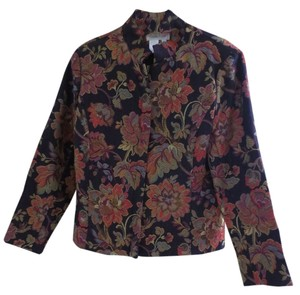 Coldwater Creek Plum Floral Jacket