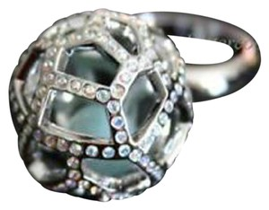 Swarovski $180 NEW Authentic SWAROVSKI CRYSTAL Jade Ball RING 58/L/8 935394