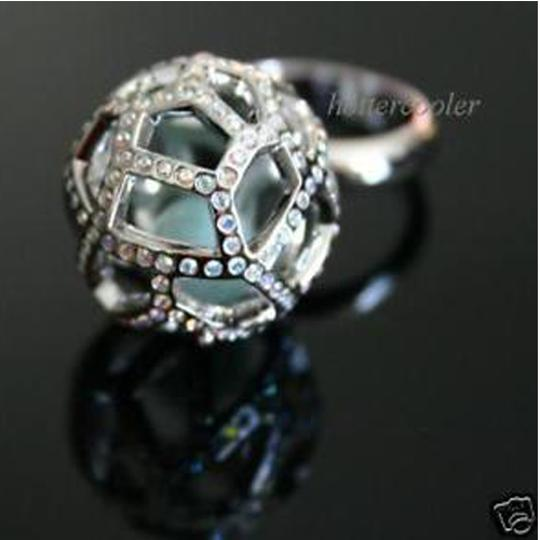 Swarovski $180 NEW Authentic SWAROVSKI CRYSTAL Jade Ball RING 58/L/8 935394 Image 4