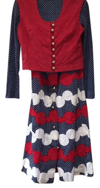 Preload https://img-static.tradesy.com/item/20508962/gioia-red-white-and-blue-with-gold-buttons-vintage-60s-long-night-out-dress-size-4-s-0-1-650-650.jpg