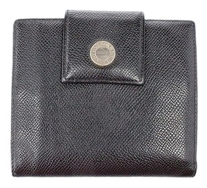 BVLGARI Grained Leather Bi-Fold Wallet