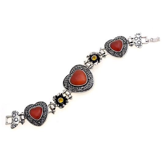 Preload https://img-static.tradesy.com/item/20509021/red-antique-style-heart-with-jade-stone-bracelet-0-0-540-540.jpg