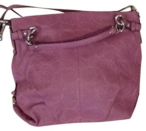 Coach Satchel in Purple/rose