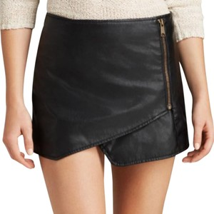 Free People Faux Leather Mini Mini Skirt Black