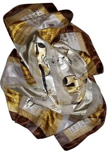 Other Square musical polyester scarf, 38