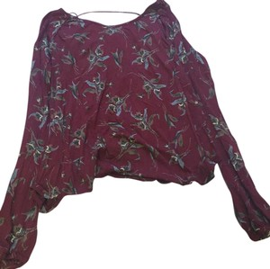 Free People T Shirt maroon