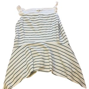 Anthropologie Top white with green stripes