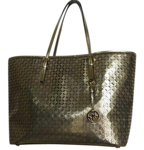 Michael Kors Fun Leather Tote in Gold