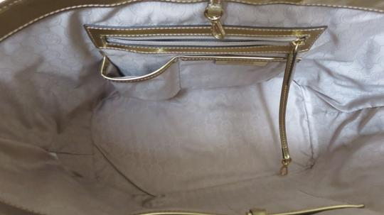 Michael Kors Fun Leather Tote in Gold Image 7