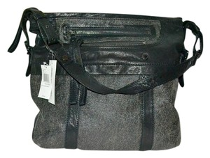 Andrew Marc Marc Leather Backstage Two-tone Hobo Bag