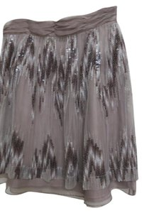 Antonio Melani Organza Taupe Sequin Tulle Skirt Winter sea mist